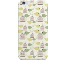 Seamless birds pattern iPhone Case/Skin
