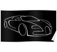 Bugatti Veyron graphic (White) Poster