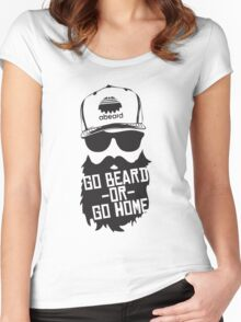 Go Beard Or Go Home Women's Fitted Scoop T-Shirt