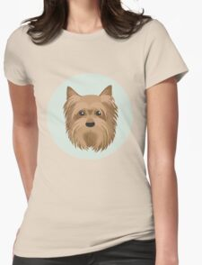 Yorkshire Terrier Pattern Womens Fitted T-Shirt