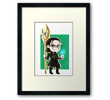 Chibi Loki Framed Print