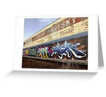 "Classic Graffiti on a ""Permission Wall""- Greeting Card"