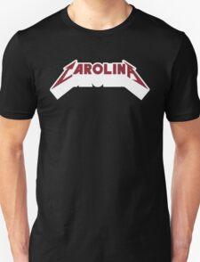 Carolina - Metal Font (Garnet Text) T-Shirt