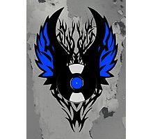 Vinyl Record - Modern Spikes Tribal and Wings Design Photographic Print