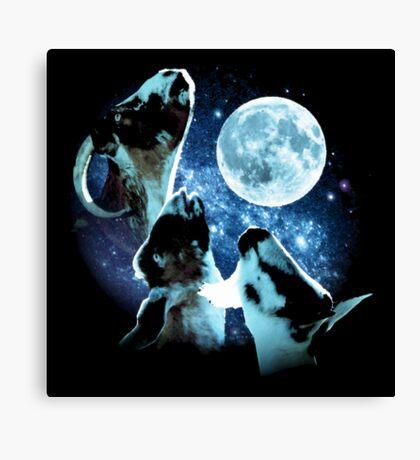 Three Goat Moon Canvas Print