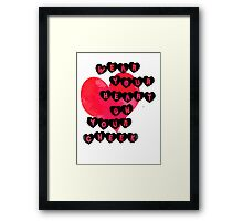 Heart on Cheek Framed Print