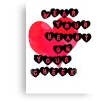 Heart on Cheek Canvas Print