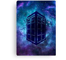 Doctor Who Tardis Galaxy Canvas Print