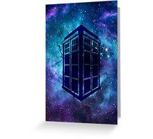 Doctor Who Tardis Galaxy Greeting Card