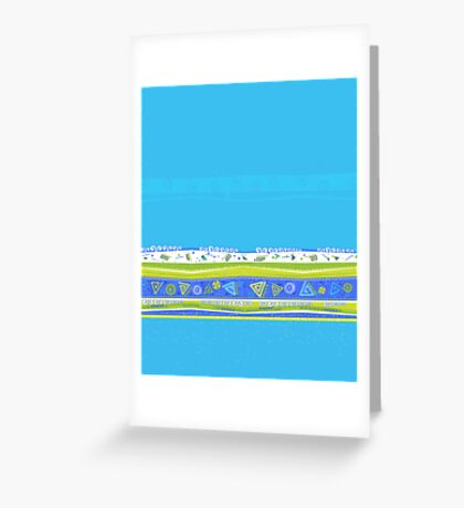 Simple Blue Design Greeting Card