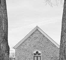 Hygiene Church of the Brethren 1880 in BW by Bo Insogna