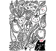 Funny vegetables Photographic Print