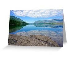 Blue Mirror Greeting Card