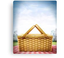 Picnic Basket Canvas Print