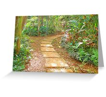 """Manoa Path"" by Carter L. Shepard Greeting Card"