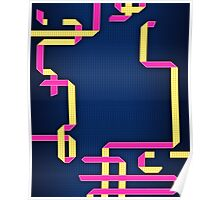 Colorful Pipes Poster
