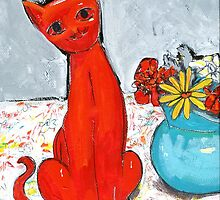 kitch cat  by HelenAmyes