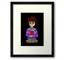 Frisk from Undertale Framed Print