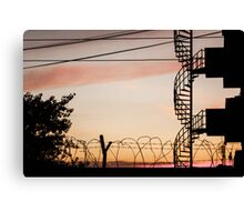 Buildings at sunset Canvas Print