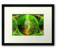 A short walk through the forest Framed Print