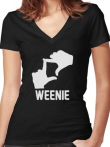L7 Weenie! Women's Fitted V-Neck T-Shirt