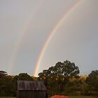Rainbow - Tin Mine Huts by Syd Winer