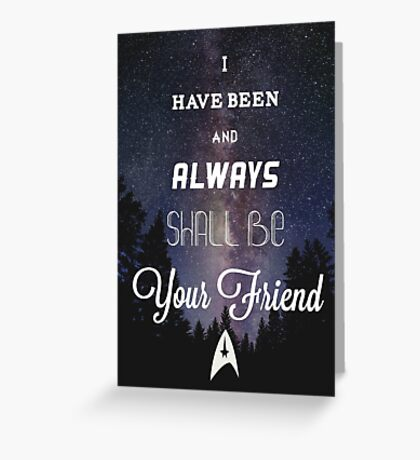 Star Trek Print Greeting Card