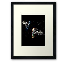 fireflying through portals Framed Print