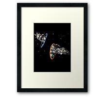 fireflying through portals Framed Print