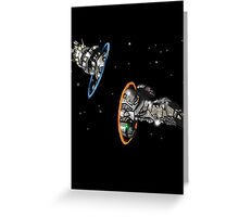 fireflying through portals Greeting Card