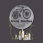 Moon Keep Moving Bicycle by carmanpetite