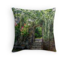 Stone Archway To The Driveway, Skylands Manor Throw Pillow