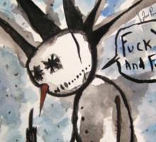 Punky the Snowman Sticker