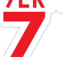 KAE9ERNICK 7 - QB #7 Colin Kaepernick of the San Francisco 49ers [DARK] Sticker