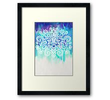 Indigo & Aqua Abstract Framed Print