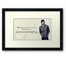 Sam Winchester Supernatural Framed Print