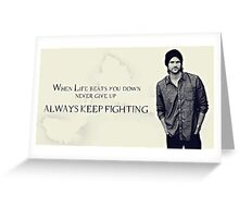 Sam Winchester Supernatural Greeting Card