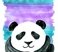 Lazy Panda on Mint & Violet by micklyn