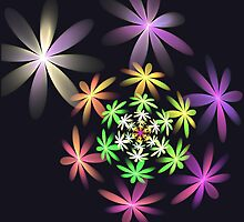 Flower 3D Spin by Pam Amos