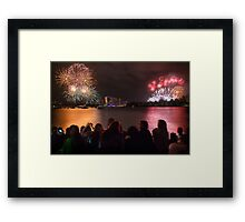 Sydney New Year's Eve Fireworks Framed Print