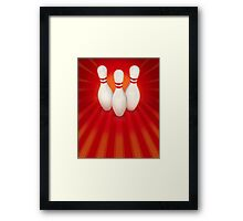 Ten Pin Bowling Framed Print