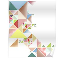 Triangles Color Poster