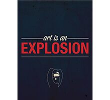 Naruto - Art Is An Explosion Typographic Poster Photographic Print