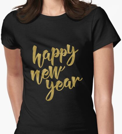 Happy New Year Womens Fitted T-Shirt