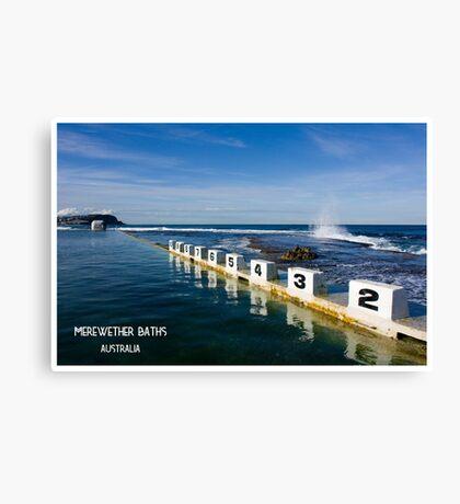 Merewether Baths - Beachcomber Series Canvas Print