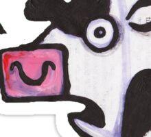 Cow top Sticker
