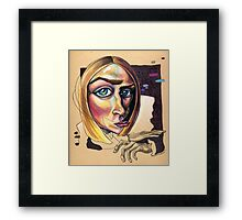 Distorted Beauty Framed Print