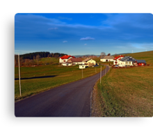 Country road, scenery and blues sky II | landscape photography Canvas Print