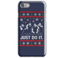 Shia Labeouf Just Do It / Motivational Speech Christmas Design  iPhone Case/Skin