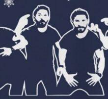 Shia Labeouf Just Do It / Motivational Speech Christmas Design  Sticker
